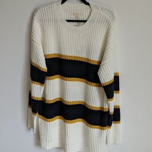 Navy and yellow stripe sweater
